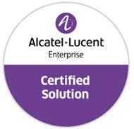 Zertifikat: Alcatel Lucent Enterprise Certified Solution (Bild: Alcatel Lucent)